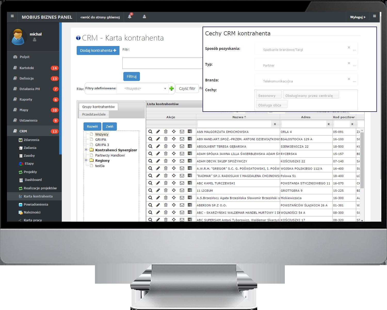Kompleksowa baza informacji o potencjalnych i obecnych klientach